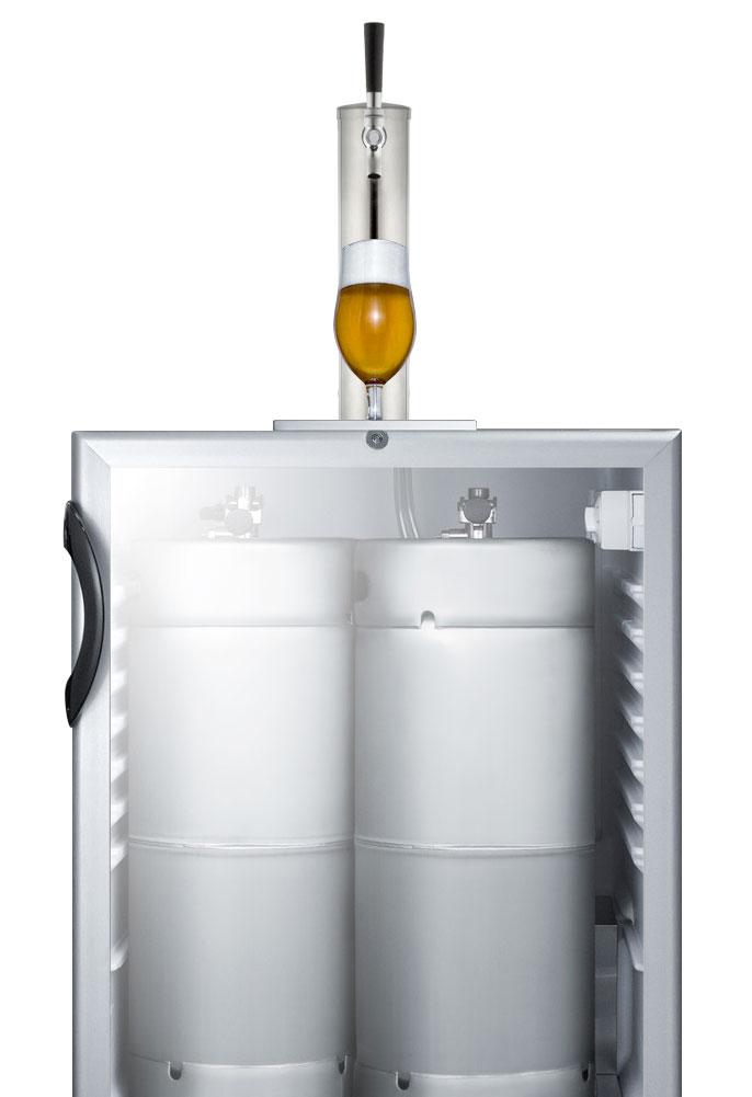 Summit Sbc56gbiada 24 Quot Wide Single Tap Glass Door