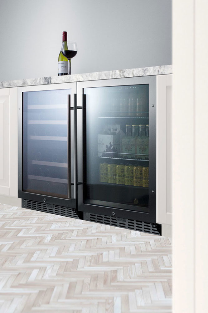 Summit Scr2466pub Craft Beer Pub Cellar Black Stainless