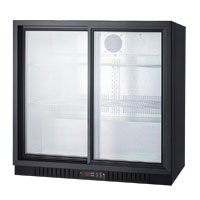 7.4 cf Commercial Beverage Cooler w/Sliding Glass Doors