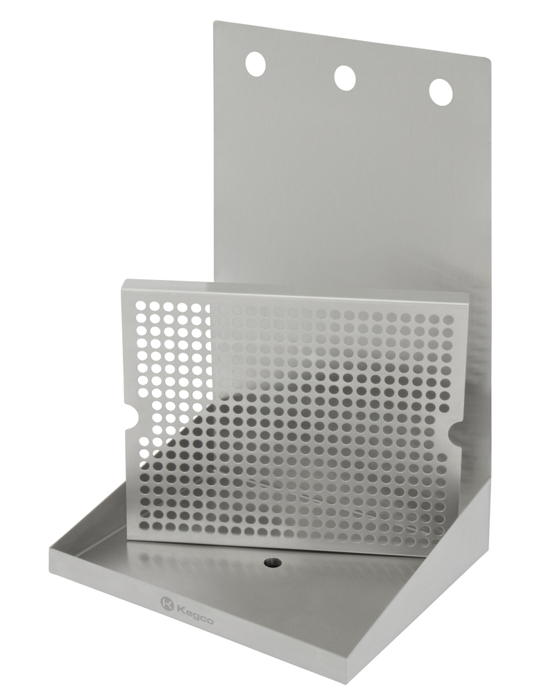 Kegco Sewm 1210 3 12 Quot X 10 Quot Wall Mount Drip Tray With