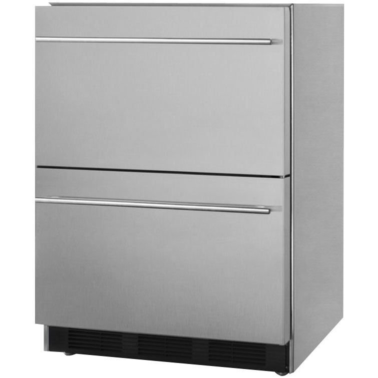 Luxury Refrigerators: Summit SP6DS2D7 Commercial 2-Drawer Refrigerator