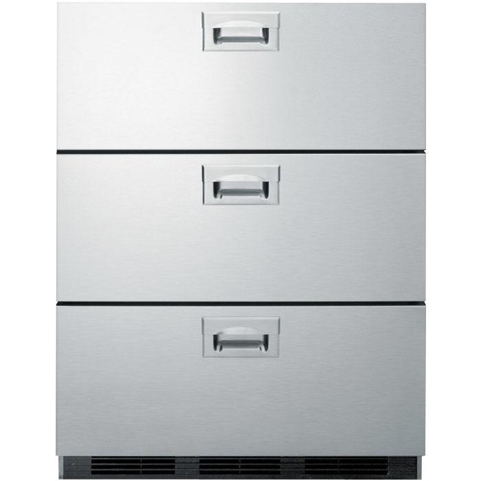 Summit Sp6ds7ada Stainless Steel 3 Drawer Refrigerator
