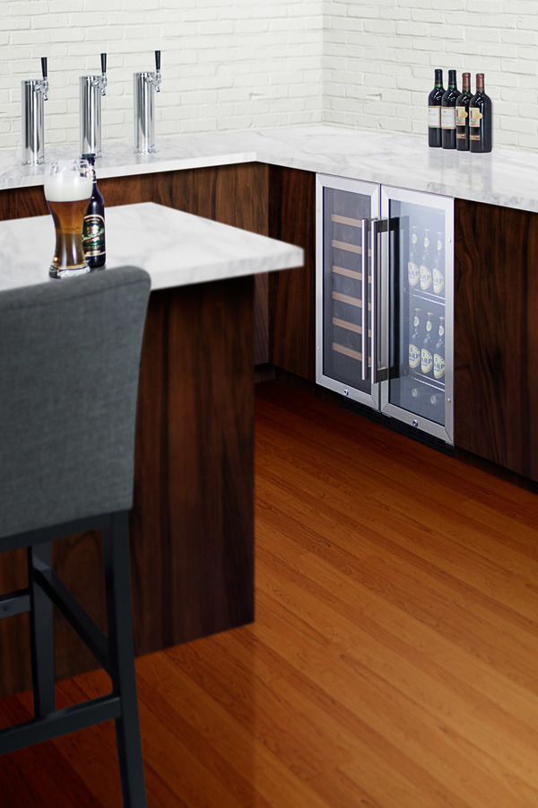Highlights The Summit Swc1535b 33 Bottle Built In Under Counter Wine Cooler
