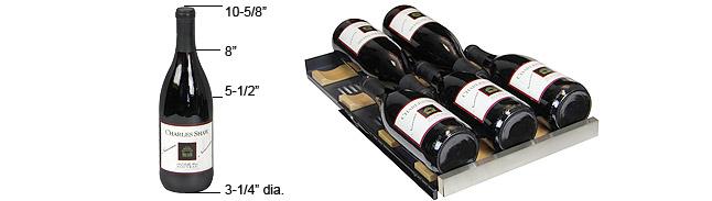Wide bottle configuration