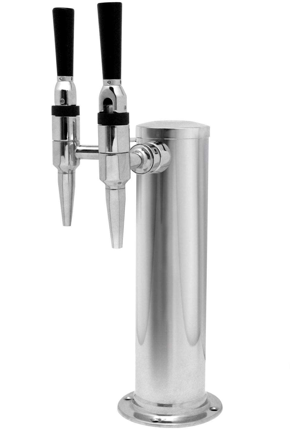 Kegco 2ft Gsf Two Tap Polished Stainless Steel Draft
