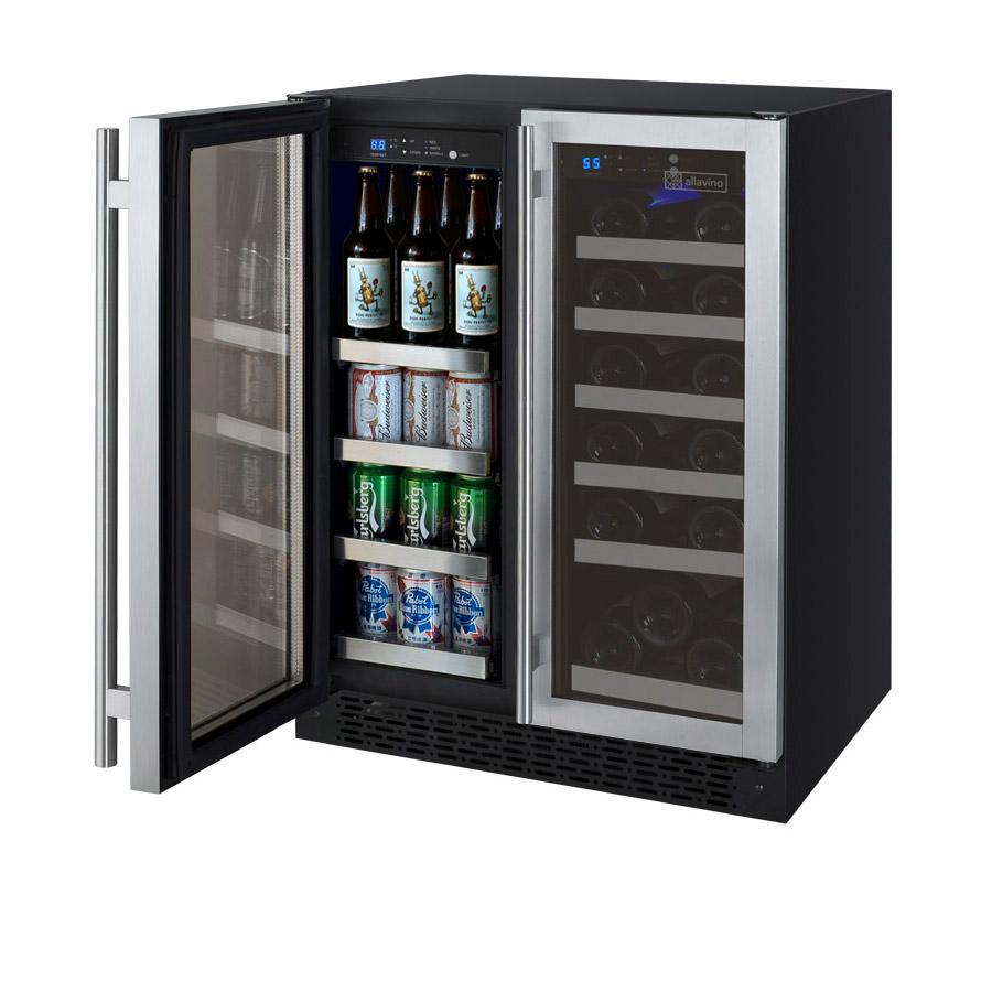 Allavino vswb 2ssfn flexcount series 2 door wine refrigerator wine beverage center publicscrutiny Image collections