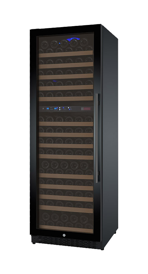 Allavino Wine Cellar Refrigerator Two Zone Vswr172 2bwln Flexcount Series 172 Bottle Black Door And Left Hinge Beveragefactory Com