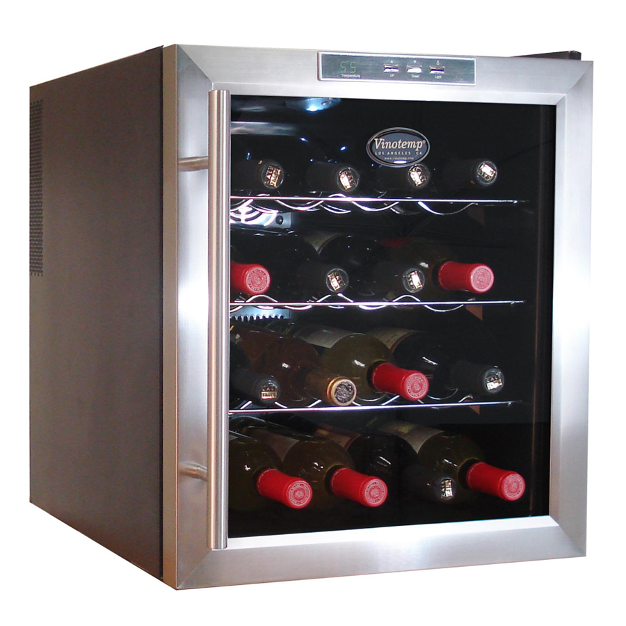 vinotemp vt 16teds thermoelectric wine cooler 16 bottle rh beveragefactory com