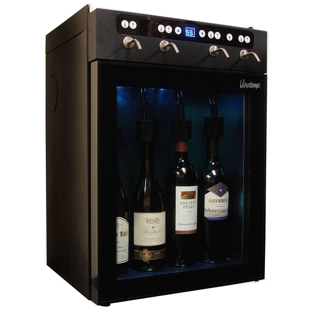 Vinotemp Vt Winedisp4 4 Bottle Wine Dispenser