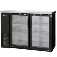 Inventory Reduction - Commercial Back Bar Refrigerator with Two Glass Doors