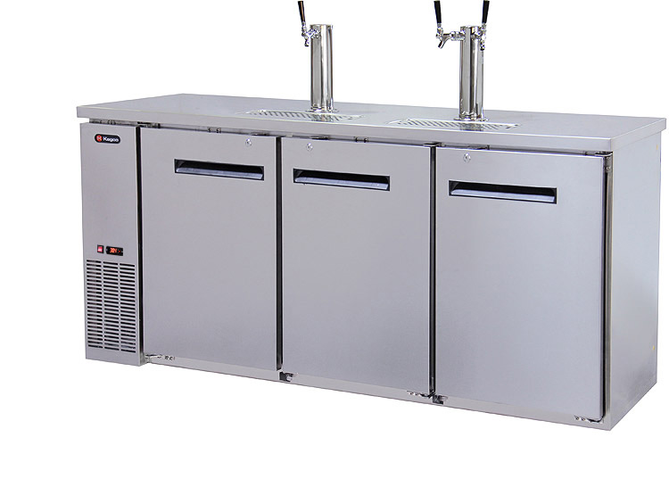 Kegerator For Sale >> 72 Wide Triple Tap Stainless Steel Commercial Kegerator