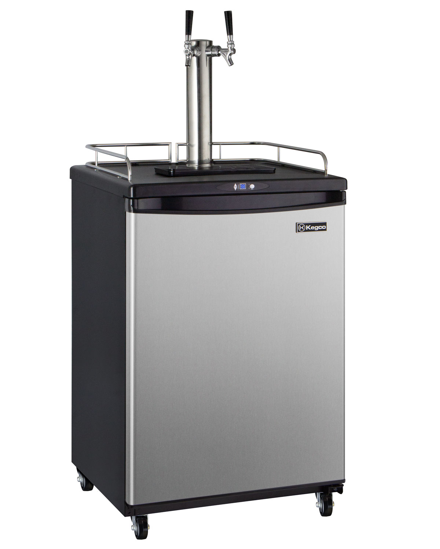 Kegco Z163s 2nk Digital Dual Tap Faucet Keg Beer Dispenser Kegerator Black Beer Keg Cooler Refrigerator Business Or Residential Stainless Door Beveragefactory Com