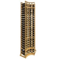 8' Curved Corner Standard Wood Wine Rack