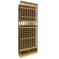 8' Eight Column Display Wood Wine Rack