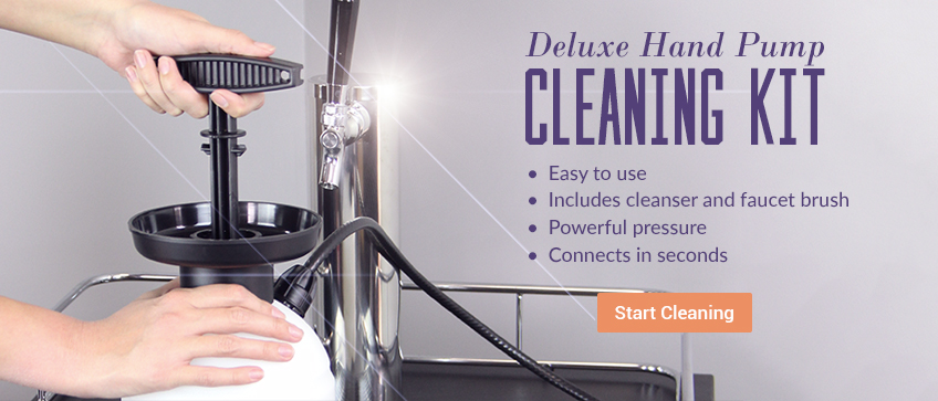 Deluxe Hand Pump Pressurized Cleaning Kit Rotation