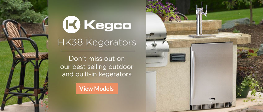 Kegco HK38 Series Kegerators - Our Best Selling Outdoor and Undercounter Kegerators