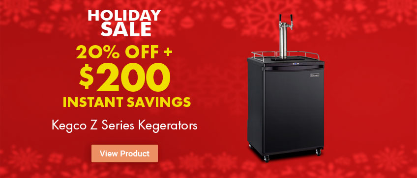 Save $200 + Free Shipping on Kegco Z Series Kegerators