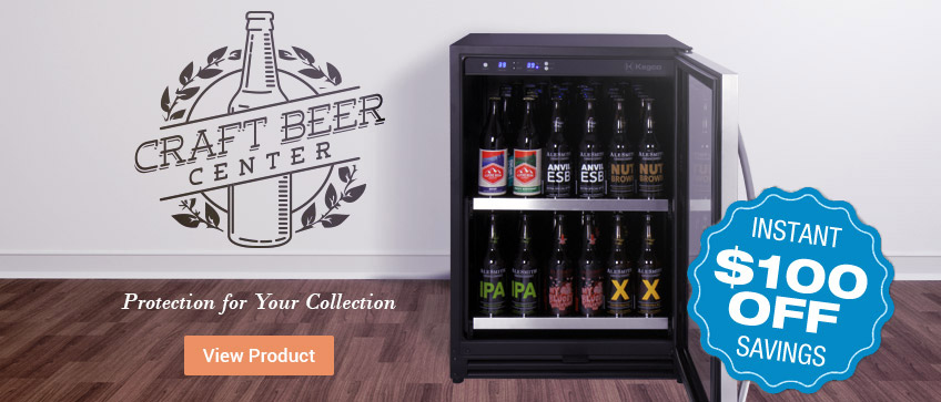 Save an extra $100 Off Kegco Craft Beer Centers for a limited time