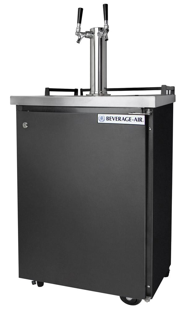 dual faucet commercial keg refrigerator - Beverage Air Kegerator