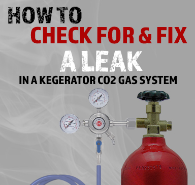 How To Check For & Fix A Leak In A Kegerator CO2 Gas System