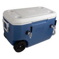 Dual Faucet Rolling Jockey Box - 60 Qt., Two 3/8