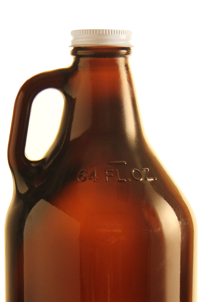 set of 72 customizable kegco beer growlers 64 oz amber glass 2 liter