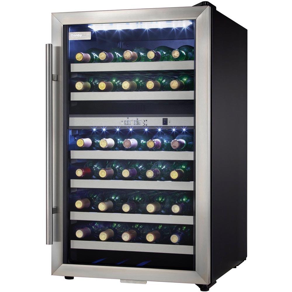 Danby Dwc114blsdd 38 Bottle Dual Zone Wine Cooler