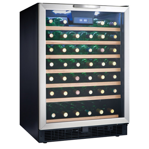 Danby Dwc508bls 50 Bottle Built In Wine Refrigerator W