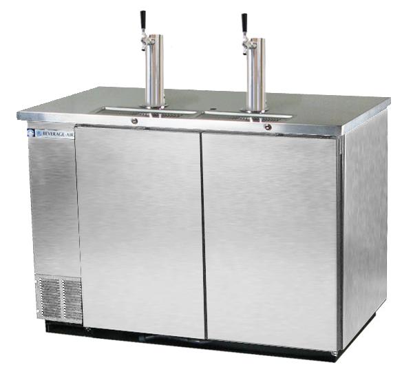 kegerator commercial 3 keg beer cooler stainless steel - Beverage Air Kegerator