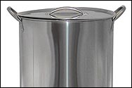 16 Quart Economy Stainless Steel Brew Kettle with Lid