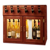 Sonoma 6 Bottle Wine Dispenser Preservation Unit - Mahogany