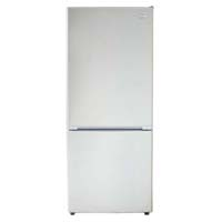 10.2 Cu. Ft. Two Door Frost Free Refrigerator - White Cabinet and White Door