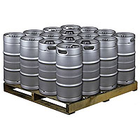 Pallet of 16 Kegs -  7.75 Gallon Commercial Keg with Drop-In D System Sankey Valve