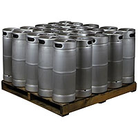 Pallet of 25 Kegs - 5 Gallon Commercial Keg with Threaded D System Sankey Valve