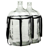 Set of 2 - 6 Gallon Glass Carboy