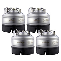 1 Gallon Ball Lock Keg - Strap Handle - NSF Approved - Set of 4