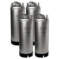 Coffee Kegs - Ball Lock 5 Gallon Strap Handle - Brand New - Set of 4