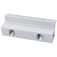 Aluminum Manifold Only - Two Way - for Kegerator Beer Line Distributors