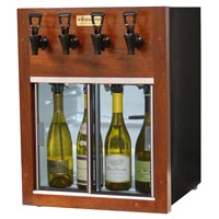 Napa 4 Bottle Wine Dispenser Preservation Unit - Mahogany