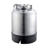 9 Liter Keg Beer Cleaning Can with Single Valve Port and Ball Lock Posts
