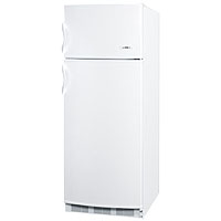9.5 Cu. Ft. Cycle Defrost Refrigerator-Freezer - White