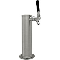 Brushed Stainless Steel 1-Faucet Beer Tower - 3-Inch Column