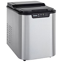 Portable Ice Maker - Black/Stainless Steel