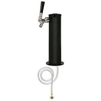 Black ABS Plastic 1-Faucet Draft Beer Tower - 3-Inch Column