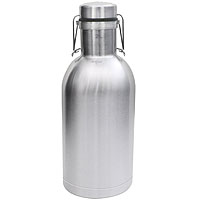 SS Growler - 64 oz Double Wall Stainless Steel Flip Top