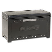 Bar & Shield Flames Storage Bench - Vintage Black
