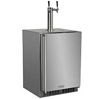 All Stainless Steel Outdoor Kegerator Cabinet with 2 Faucet Home Brew Keg Tapping Kit