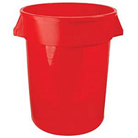 Brute 32 Gallon Red Keg Bucket with Plastic Handles