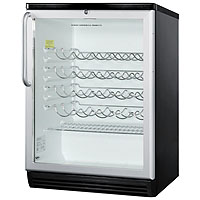 50 Bottle Wine Refrigerator with Stainless Towel Bar Handle