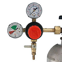 Primary Double Gauge CO2 Gas Beer Regulator with Polyethylene Knob